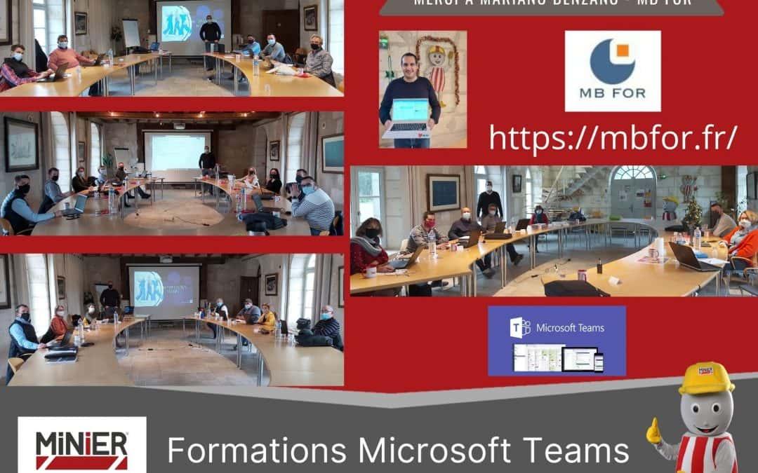 Des formations Microsoft TEAMS pour nos équipes