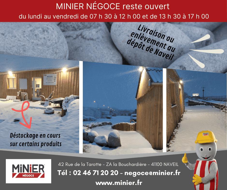 Minier Négoce sous la neige