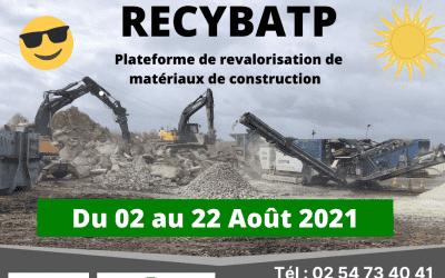 RECYBATP : en congé du 02 au 22 Août 2021