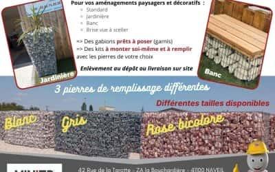 Nouveaux produits chez Minier Négoce : LES GABIONS